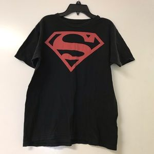 Men's S Superman Black/Red Logo Shirt